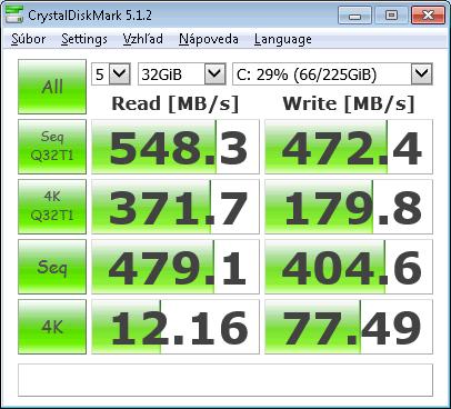 Toshiba HG6 256GB (THNSNJ256GVNU) SSD M.2 * CrystalDiskMark Test Size: 32GiB