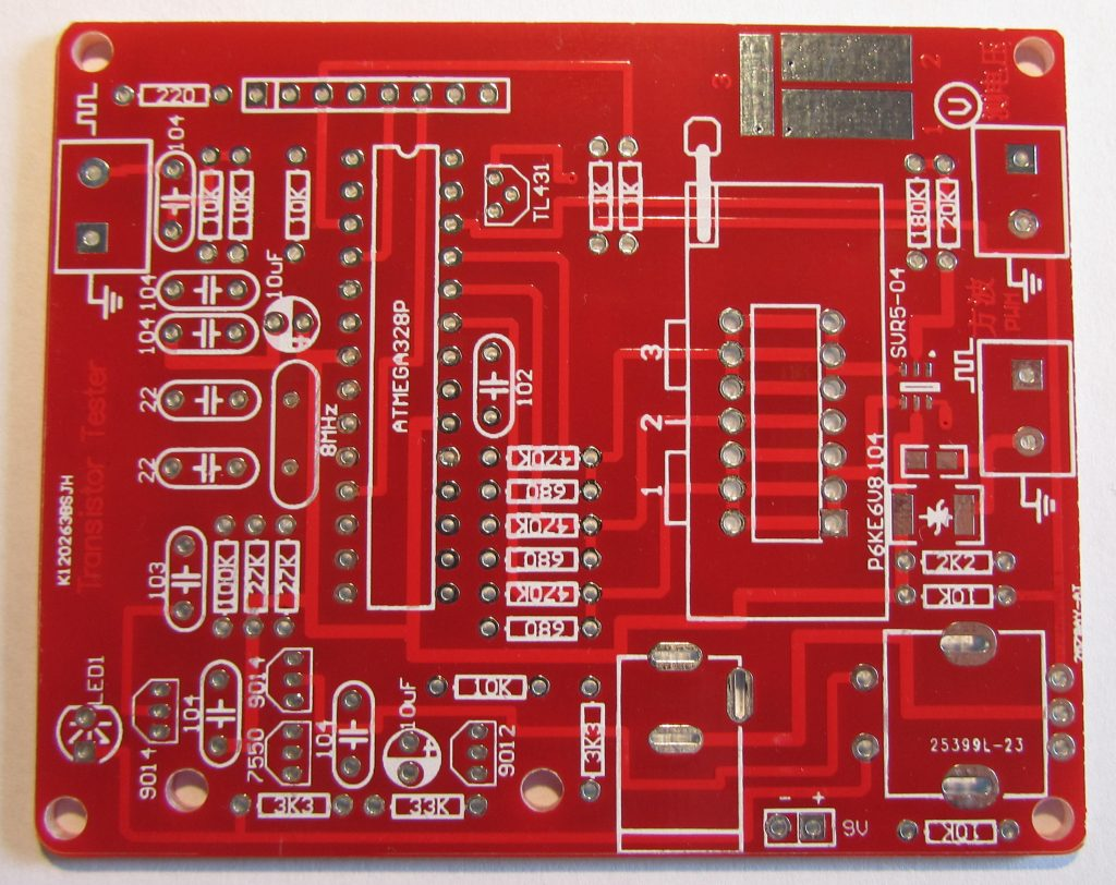 AVR Component Tester - PCB Top