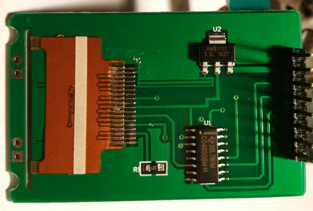 AVR Component Tester - TFT LCD display Bottom